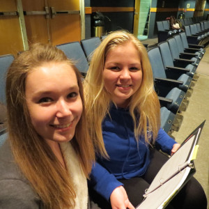Stage Managers Hannah McGinn & Jocelyn Kline