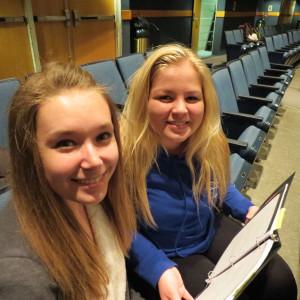 Stage Managers Hannah McGinn & Jocelyn Kline